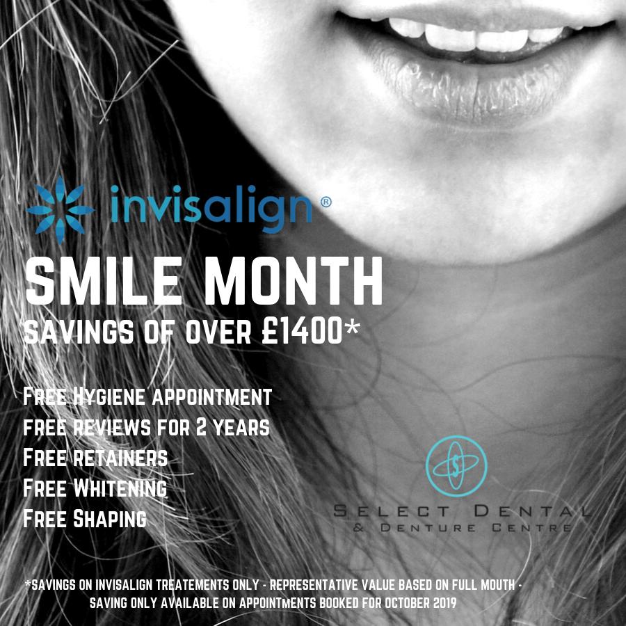 Invisalign Smile Month, Select Dental & Denture Centre, Exmouth, Devon